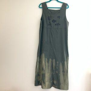 Vintage hand bleach-dyed jumper dress